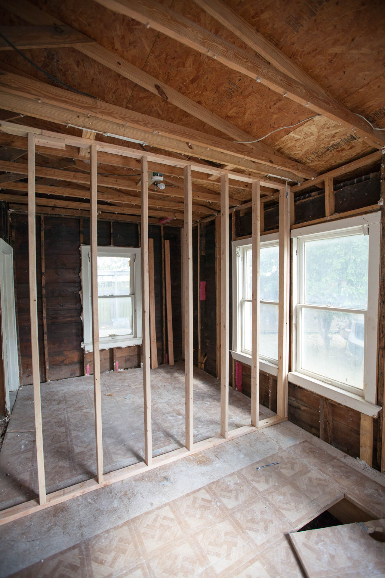 House flipping Houston framing